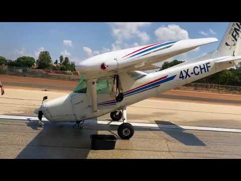 נחיתת קנגורו בהרצליה - מטוס ססנה 152