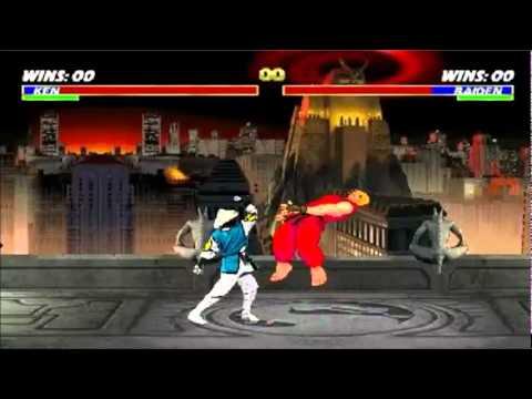 Mortal Kombat vs Street Fighter 1 (Ken vs Raiden) - HQ -