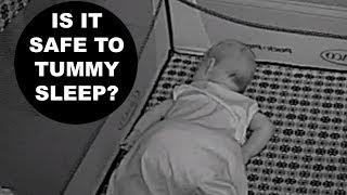 WE HAVE A TUMMY SLEEPER!