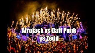 Ten Feet Tall vs One More Time (Afrojack Mashup) ft Daft Punk and Zedd @Tomorrowland 2018