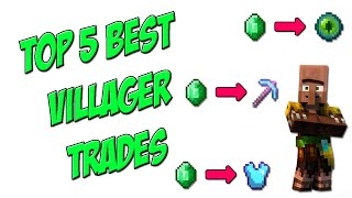 Top 5 Best Villager Trades in Minecraft