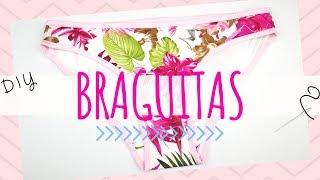 Cómo Hacer BRAGUITAS Con Un Retal De Tela | Ropa Interior Mujer DIY | Underwear