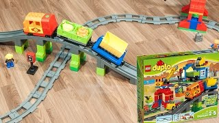 Lego Duplo Deluxe Train Set (stop motion animation) - Set 10508 - Kids Toys Are Fun