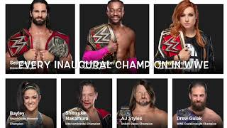 EVERY INAUGURAL CHAMPION IN WWE (CURRENT CHAMPIONS ONLY)
