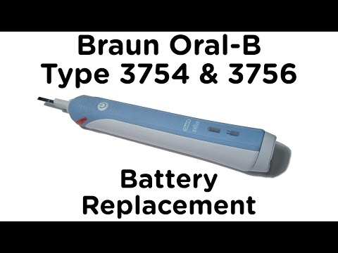 Battery Replacement Guide for Braun Oral-B Type 3756 & 3754 Professional Care and TriZone Toothbrush