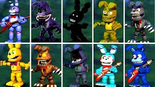 Five Nights at Freddy's 6 FNAF 1 2 3 4 5 ALL BONNIE ANIMATRONICS *FNAF 2018*