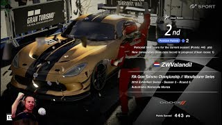 #267 FIA GT Manufacturer series championship Off Season 3 race 5, Gran Turismo Sport, PS4PRO, T300RS
