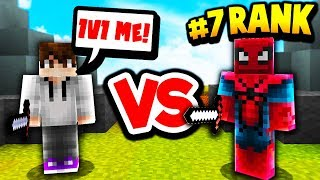 1V1 AGAINST A TOP RANKED MINECRAFT SKYWARS PLAYER!