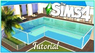 Sims 4 Glass Pool Tutorial [No CC!]   Kate Emerald