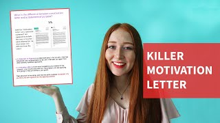 What should you write about in a motivation letter | DOWNLOAD A FREE TEMPLATE