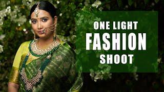 One Light Fashion Portrait Shoot | BTS | Tamil Photography Tutorials