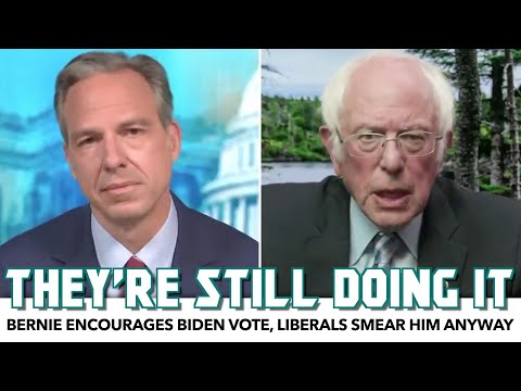 Bernie Encourages Biden Vote, Liberals Smear Him Anyway