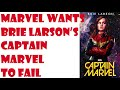 Marvel WANTS Brie Larson to be a lifeless block of wood, AND for you to complain about it.