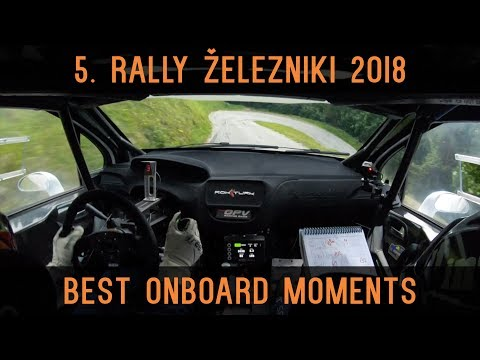 5. rally Železniki 2018   Best onboard moments   Rok Turk - Blanka Kacin (Peugeot 208 T16)