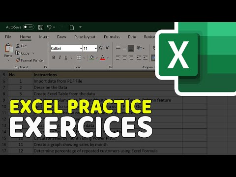 Excel Exercises for Practice - YouTube