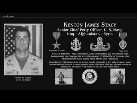 Plaque honors Kenton James Stacy at Mt. Soledad