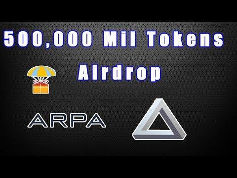 500 mil Tokens no Airdrop dentro da Plataforma ARPA . IMPERDÍVEL 🚀.