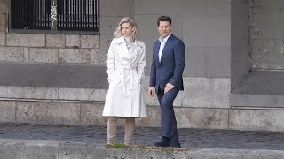 Tom Cruise and Vanessa Kirby shooting a love scene on the Mission Impossible 6 shooting in Paris