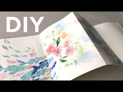 DIY:  Sketchbook (NO SEW) + Painting