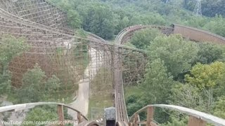 The Beast Front Row (HD POV) Kings Island