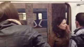 потасовка в метро