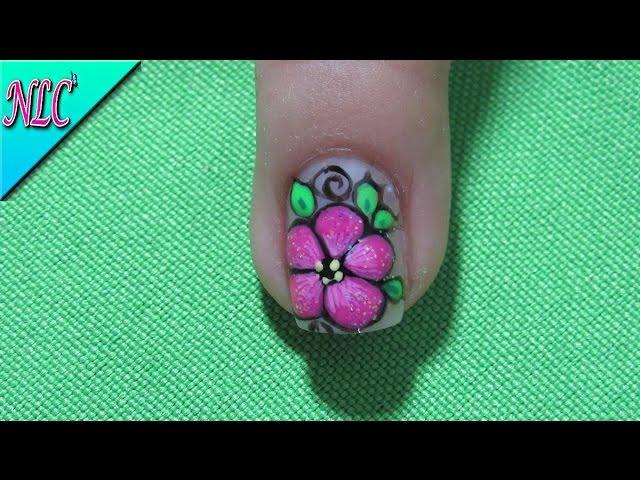 Único Flor Hawaiana Del Arte Del Uña Embellecimiento - Ideas Para ...