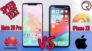 Huawei Mate 20 Pro VS Apple iPhone XR - SPEED TEST - Surprising Results!