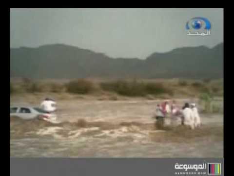 شباب ينقذون عائلة غرقت في سيول بيشة