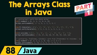 The Arrays Class in Java (Part 1)