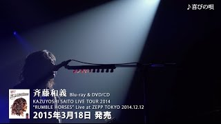 """斉藤和義-""""RUMBLEHORSES""""LiveatZEPPTOKYO2014.12.12[Trailer]"""