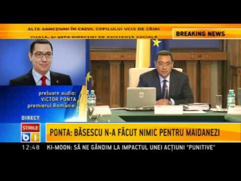 Victor Ponta: Problema cainilor maidanezi este grava/septembrie 2013