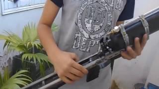 Chế súng hơi pcp đơn giản cực mạnh từ bình cứu hỏa