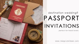 Perfect Invitations For Destination Wedding? PASSPORT!
