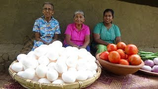 100 Eggs Recipe by Grandma, Mom and Daughter with unboxing Gold Play Button