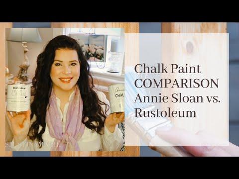 Chalk Paint Comparison and Review: Annie Sloan vs. Rustoleum Chalk Paint ♡MissJustinaMarie