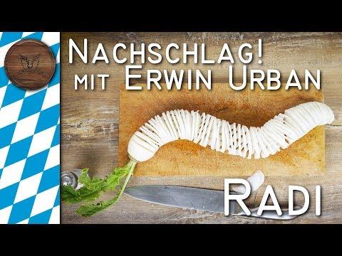 Schmankerl zur Wiesn: Radi schneiden (Oktoberfest Spezial)