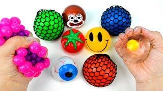 Aprende Colores para Niños en Español con frutas y bolas de slime - video educativo