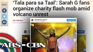 Fans ni Sarah G, nag-organisa ng 'Tala para sa Taal' charity flash mob | UKG