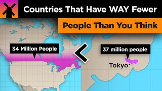 Countries With WAY Fewer People Than You Think thumbnail