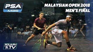 Squash: Tsz Fung Yip v Al Tamimi - Malaysian Open 2018 - Men