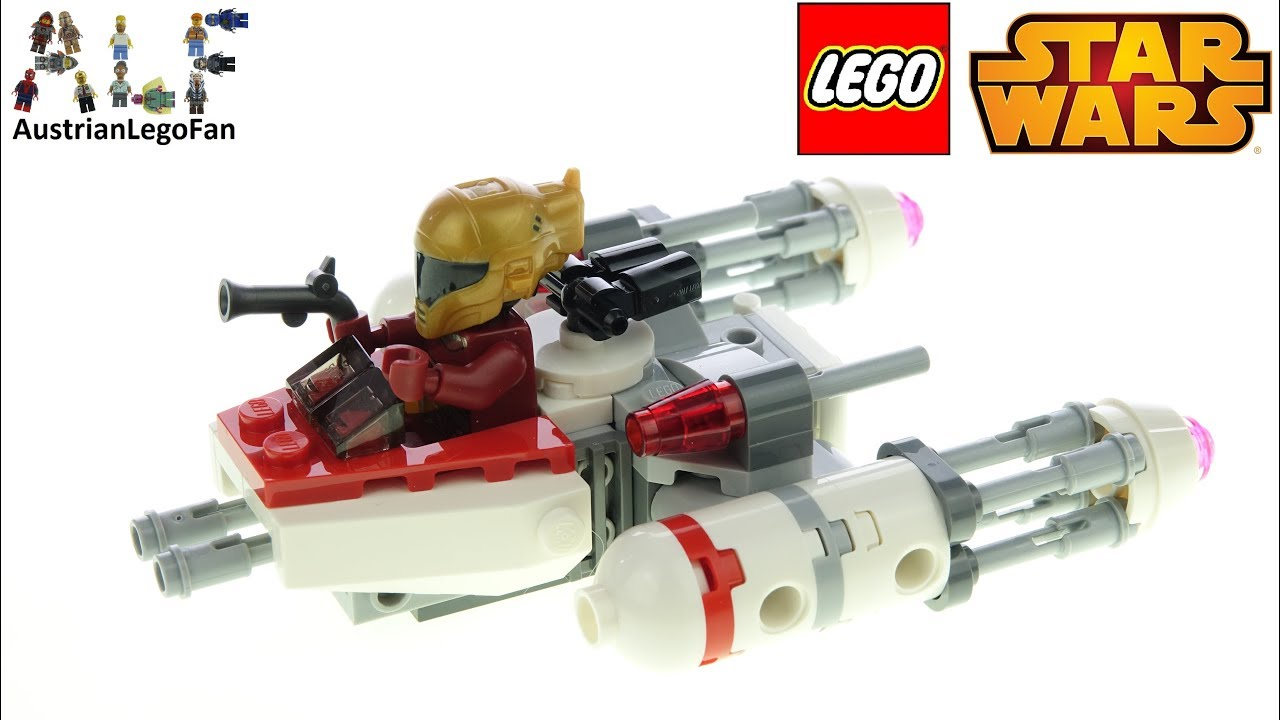 LEGO Star Wars 75263 Resistance Y-Wing Starfighter Microfighter - Lego Speed Build Review