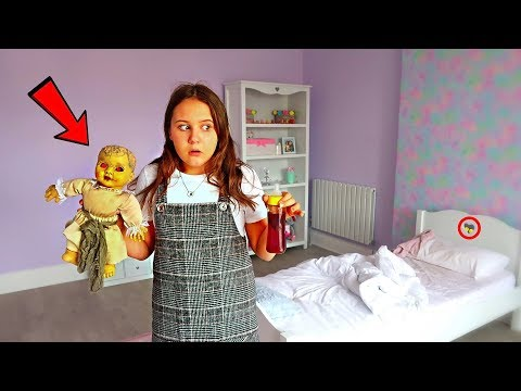 24 Hours OVERNIGHT In My Little Sisters Room!!! (DOLL MYSTERY)