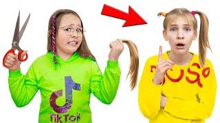 Amelia gets a haircut, Avelina pretend play kids fun