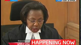The court of Appeal in session : Five judge bench expected to give verdict on presidential result