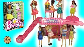 Barbie Shopping at Mall - Giant Haul of The Coolest Barbie Dolls Tall, Petite, Curvy Fashionistas