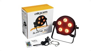 Algam Lighting SLIMPAR 510 QUAD projecteur à LED  - Video
