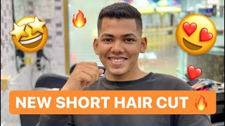 Short Crop Haircut Simple Men's Short Haircut