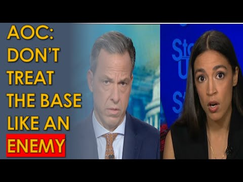 AOC Responds to Corporate Democrat SMEARS on CNN with Jake Tapper