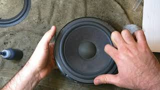 How to refoam a woofer - the basics