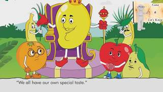 The King Of Fruits | Learn Fruits Names | Cartoons for Kids | Fruits For Children | Moral Stories